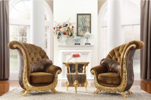 Set sofa teras model keong