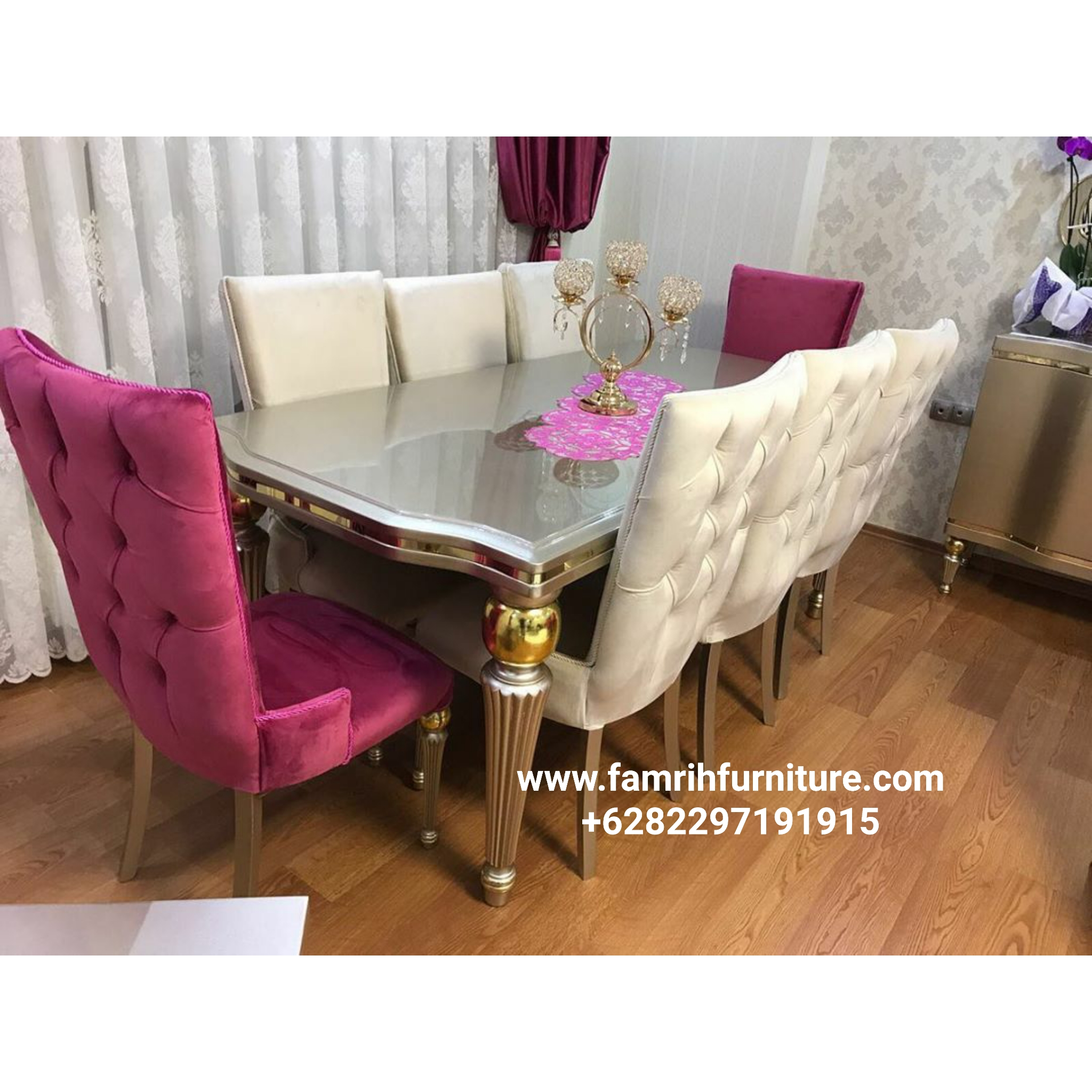 Set Kursi Makan Modern Luxury